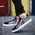 2017 new men's lace geometric pattern flat shoes casual shoes.WFMY-7630