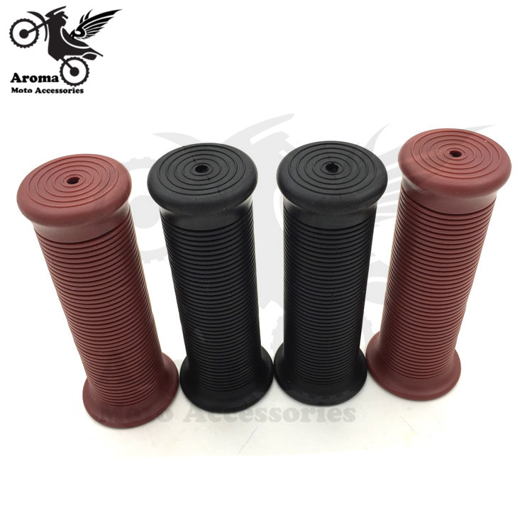 free shipping hot retro black cafe brown universal motorbike grips for yamaha honda suzu ...
