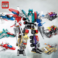 Enleten Creator Mecha 6в1 трансформации робот совместимый лесет технологические строительные блоки кирпичи развивающие игрушки подарки для мальчико...