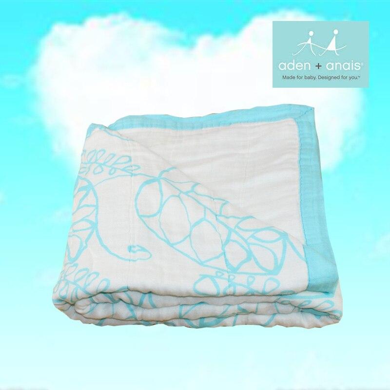Mousseline bébé couverture Fiber de bambou nouveau-né bain voyage serviette swaddle chaîne multifonctionnelle couette 8 couches épaississement