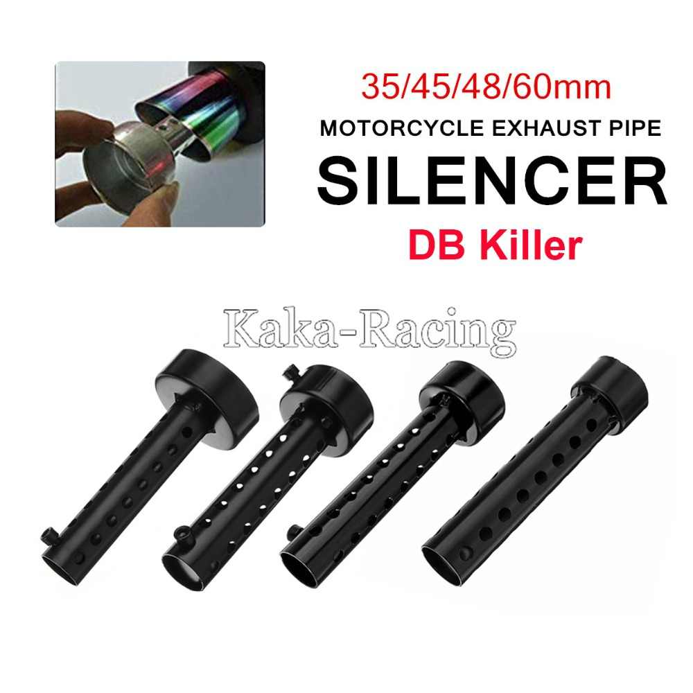 Motorcycle Exhaust Muffler DB Killer Silencer Noise Sound Eliminator Black metal Adjustable Muffler Silencer 35mm/45mm/48mm/60mm