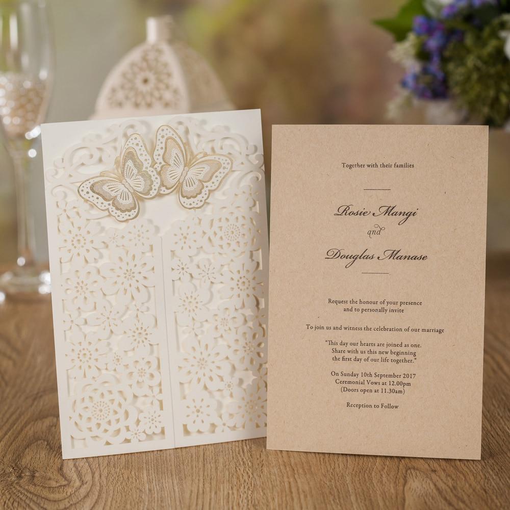 Wedding Cards 100pcs Wedding Invitations Birthday Party Decorations Adult Greeting Card Beige for Graduation Anniversary,CW7085W