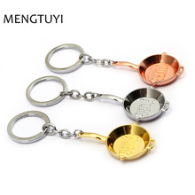 J Store Playerunknown's Battlegrounds Mini Pans Pendant Keychain PUBG key chain Llavero Chaveiro 3colors men kids gift jewelery