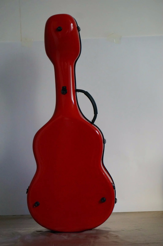 New one High quality carbon fiber guitar case, 39 classical guitar guitar case red color