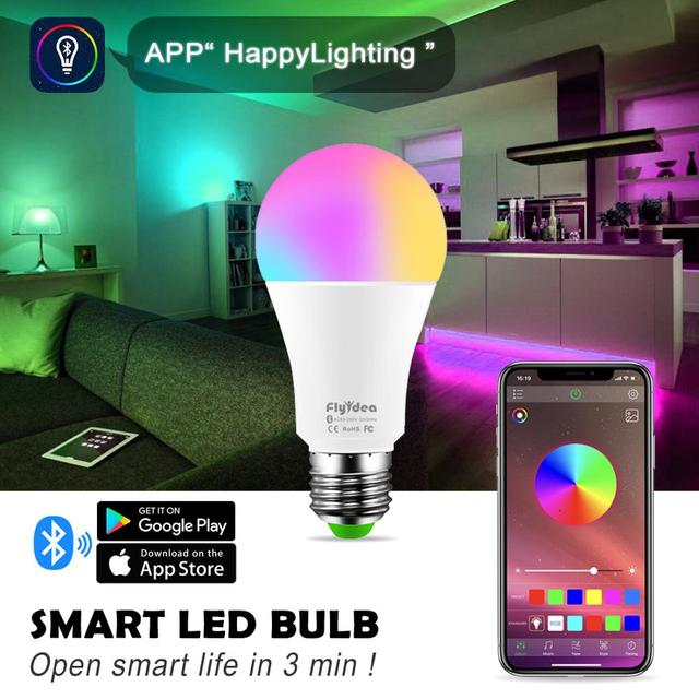 Wireless Bluetooth4 0 Smart Bulb LED Magic RGBW Home Lighting Lamp 10W E27 Color Change Dimmable