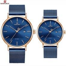 NAVIFORCE Top Brand Luxury Men Quartz Watches Women Steel Wa