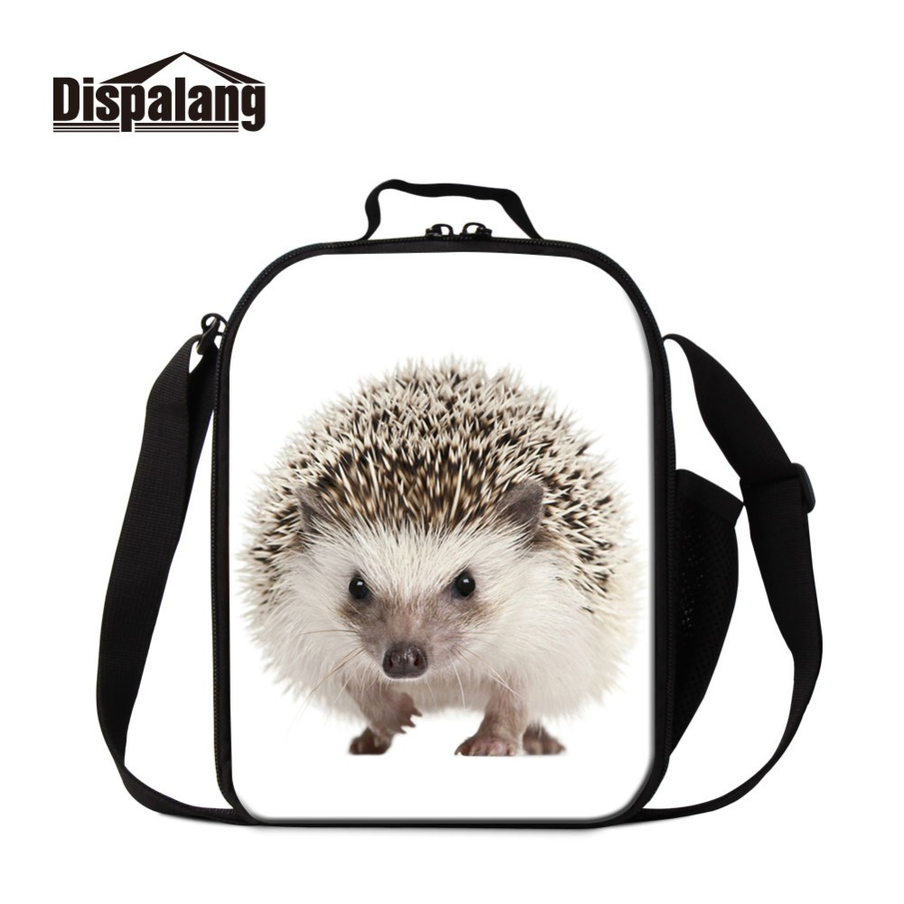 Dispalang Portable Lunch Pouch Insulated Hedgehog Word Thermal Girl Cooler Box Storage Bags For Kid Container Food Picnic Packet