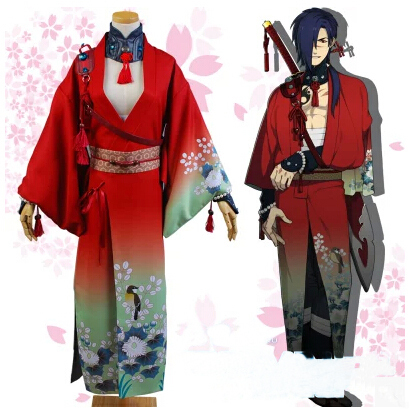 Special Price Dmmd Dramatical Murder Koujaku Cosplay Costume Red Kimono Anime Clothes For Boys Outsuit Unisex Adult Carnival Costume Custom October 2020