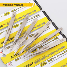 6pcs Precision Tweezers Set Thicken Stainless Steel Electronics Forceps Multi Tools