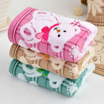 High quality 100% Pure Cotton Baby Towel cute Cartoon baby Face Towel soft Double baby Gauze Towel