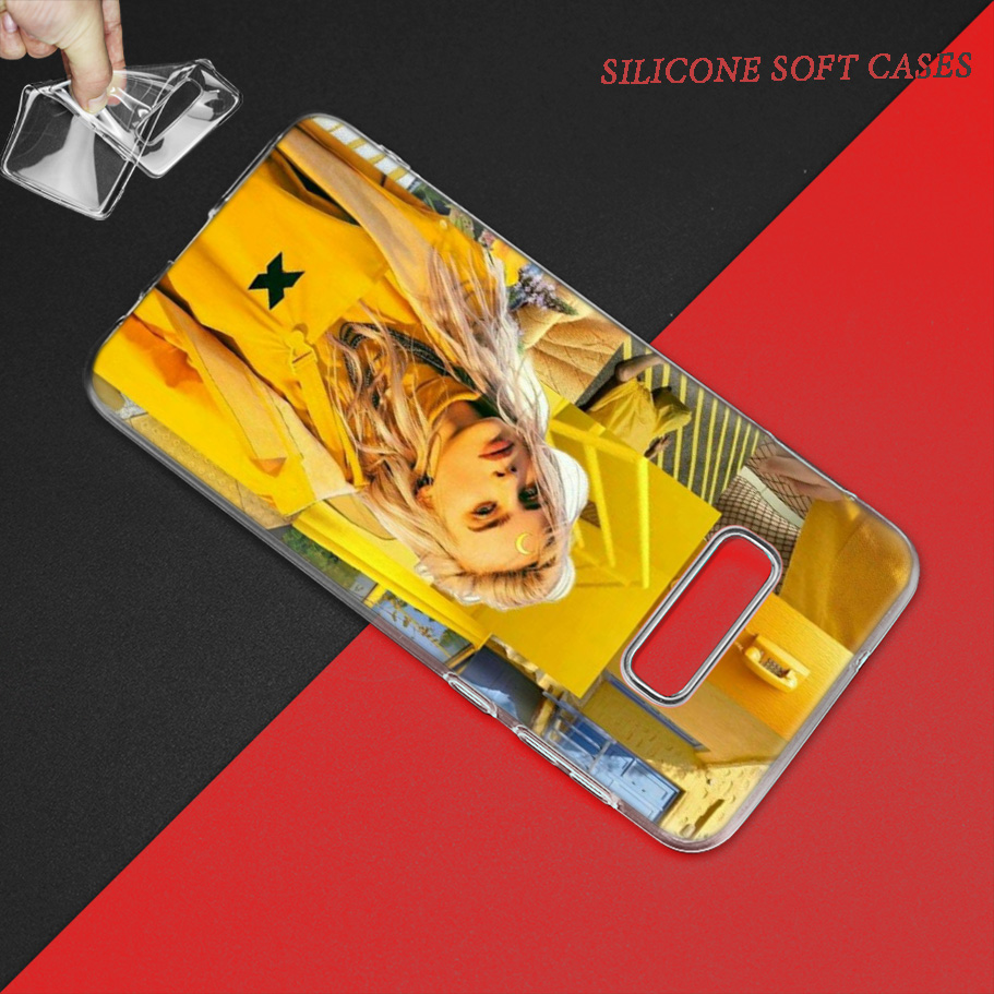 Fishion Billie Eilish Case for Samsung Galaxy S8 S9 S10 5G S10e S7 Note 8 9 10 J4 J6 Plus J5 J8 2018 J3 Silicone Phone Bags Caso in Fitted Cases from Cellphones Telecommunications