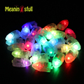 100 unids/lote Multicolor Flashing Led Lámparas Luces De la Linterna de Papel Globo Wedding Party Balloons Blanco Decoración de Halloween Prop