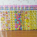 5Sheet /Pack Cartoon Children Emoji Kawaii Smile Face Stickers School Teacher Merit Praise Class Sticky Paper Lable