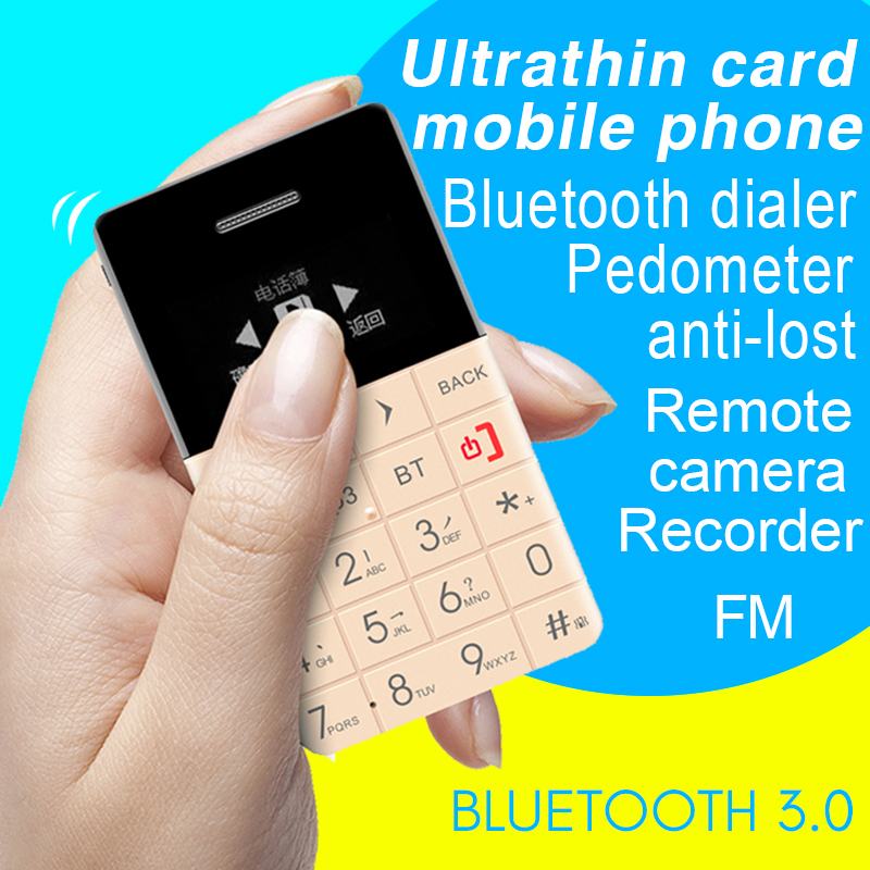 Qmart Q5 Arabic Hebrew Swedish Bluetooth Remote control MP3 FM Bluetooth dialer mini Ultrathin card cell