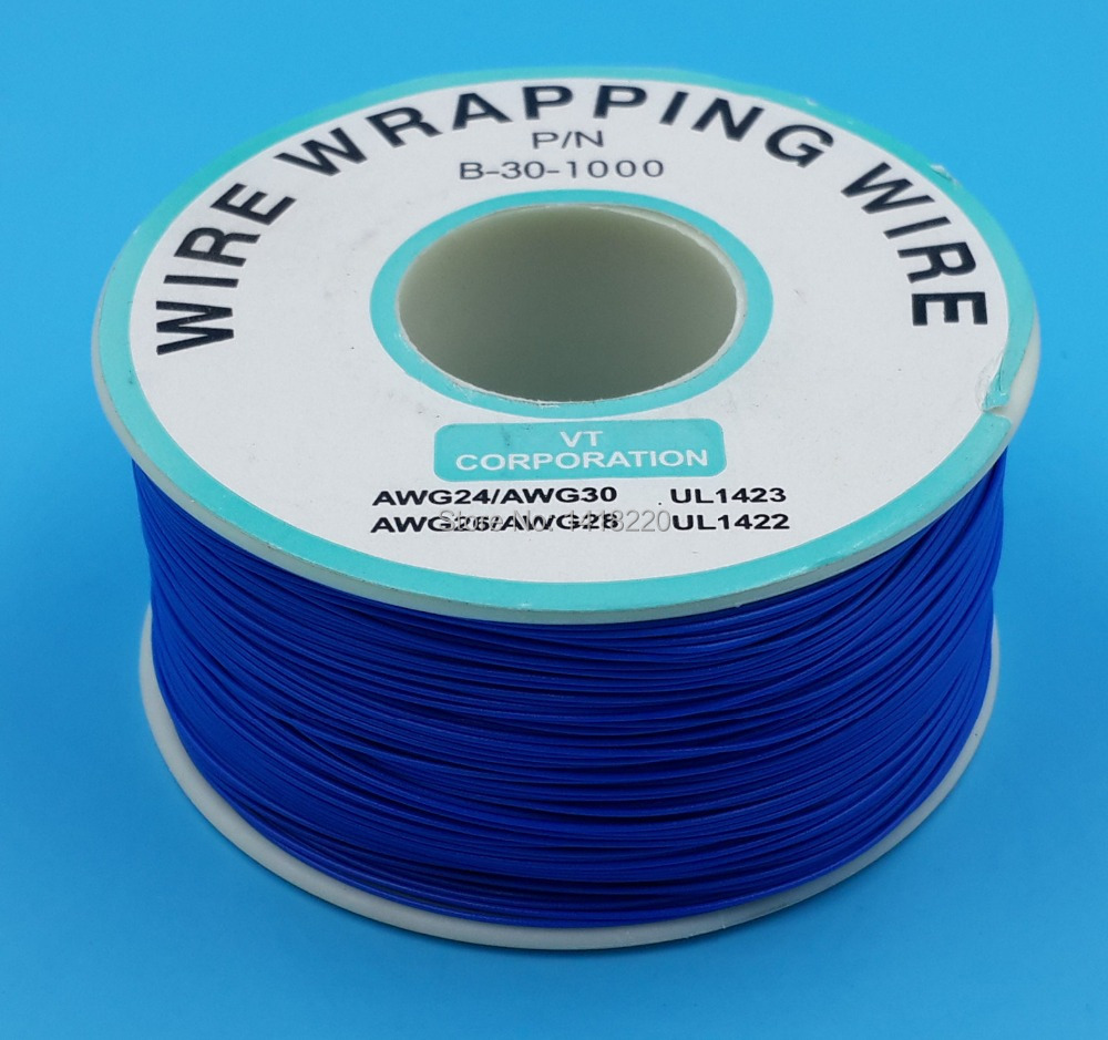 1Pcs 0.25mm Wire Wrapping Wire 30AWG Cable 250m Blue-in Power Cords ...
