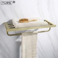 Brushed Gold 304 Stainless Steel Gilded Bathroom Hardware Set Paper Holder Toothbrush Holder Towel Bar Bathroom Accessories