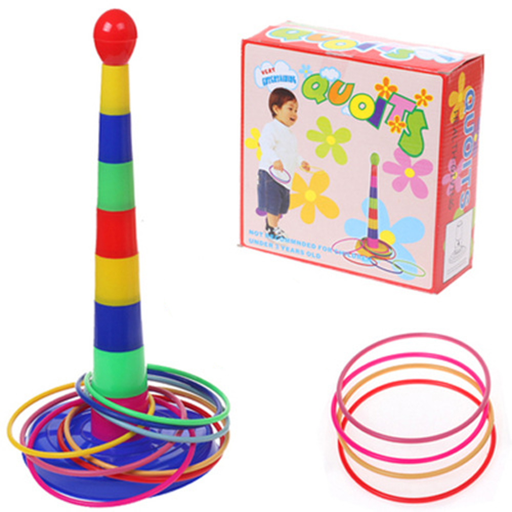 Puzzle Kids Hoopla Ring Toss Cast Circle Sets Game Colorful Toy Puzzles Baby Kids Toys Educational Toys For Children