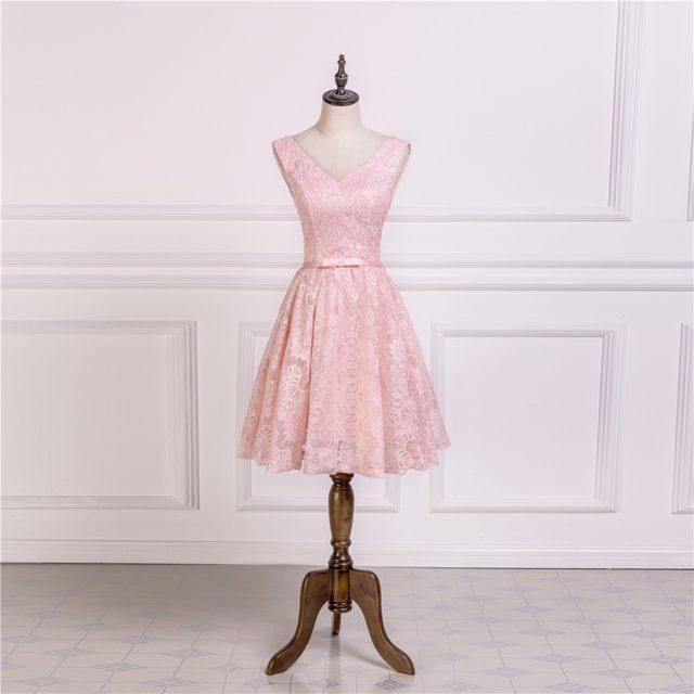Tienda Online Ruthshen luz Rosa corto prom dresses 2018 v-cuello ...