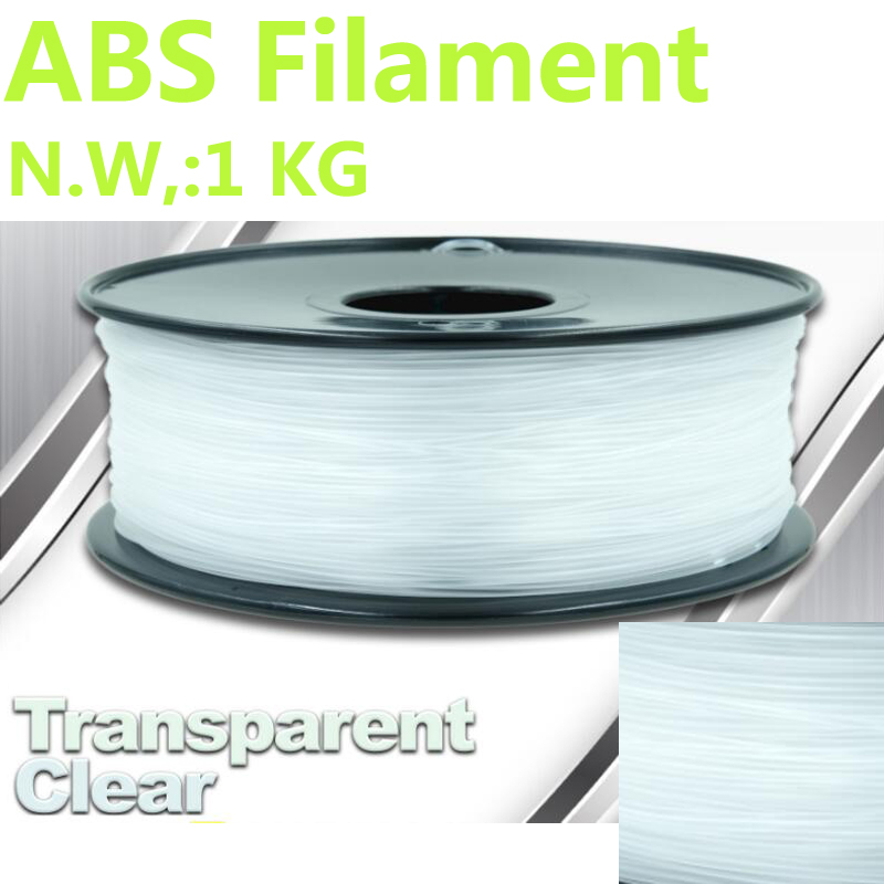 все цены на  Transparent abs plastic filamento impresora 3d printer filament 1kg PinRui Brand abs filament 1.75mm 1kg 375m 1.75 filamento abs  онлайн