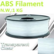 Прозрачный абс-пластик impresora filamento 3d-принтер накаливания 1 кг PinRui Марка abs накаливания 1.75 мм 1 кг 375 м 1.75 filamento abs