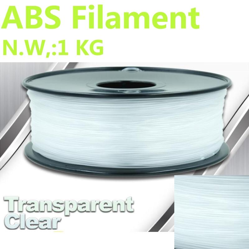 Transparent en plastique abs filamento impresora 3d imprimante filament 1 kg PinRui Marque abs filament 1.75mm 1 kg 375 m 1.75 filamento abs
