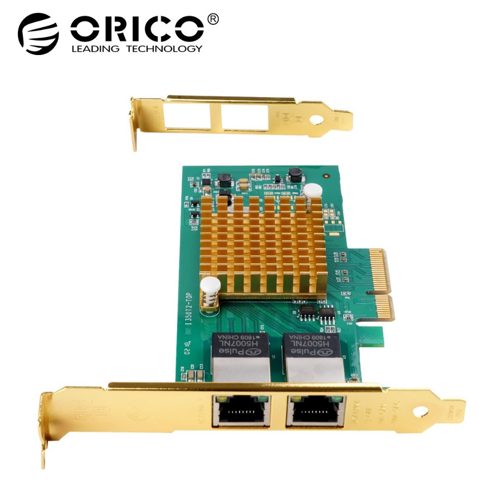 ORICO Network Card PCI-E Express Card 2 Port PCIE to Gigabit Network Adapter INTEL I350 10M/100M/1000M PCIE RJ45 Adapter For PC bao feng baofeng bf 888s uhf 16 ch 5 w 400 470 walkie talkie bf 888s