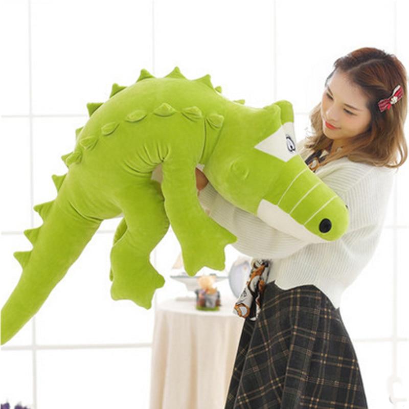 Fancytrader géant 47 pouces doux crocodile jouets grands animaux en peluche crocodile oreiller poupée 120 cm enfants cadeau
