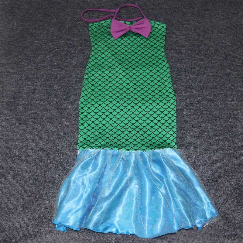 Princess Ladies kids girl Halloween cosplay Costume Fancy Party Sequins  Maxi Tail long green Skirt adult Little Mermaid Ariel-in Girls Costumes  from Novelty ... 2354d9530b99