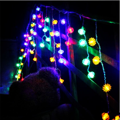 New Year 4X0.7M LED Cristmas Lights Outdoor Navidad LED Christmas Garlands Decoration LED Curtain Fairy Lights Luzes de Natal цена 2017
