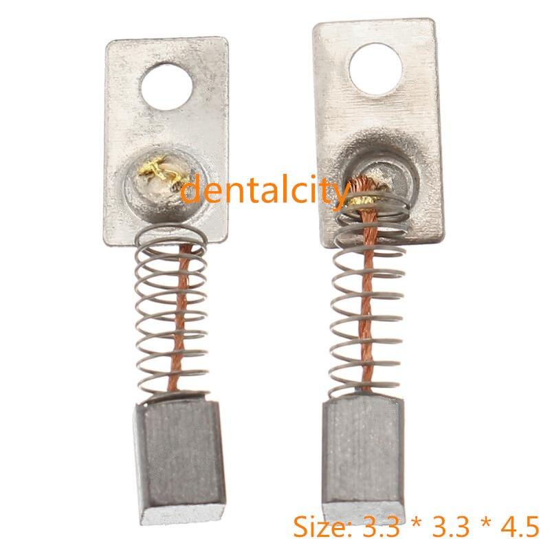 20PCS 3.3*3.3*4.5mm Metal Electric Motor Carbon Brushes Replace For/Saeyang Series Dental Grinding Machine Micromotor Handpiece
