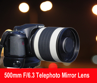 500mm F/6.3 Telephoto Mirror Lens + T2 Mount Adapter Ring for Canon Nikon Pentax Olympus Sony A7 A7RII A6300 DSLR