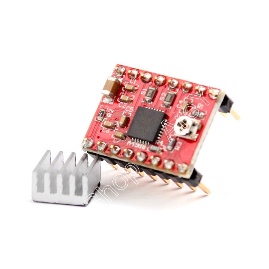 Areyourshop Sale 5PCS A4988 Stepper Driver With Heatsink For 3D Printer Compatible To For Arduino