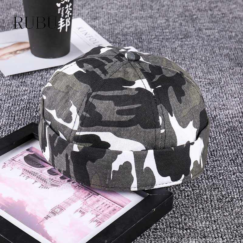 6408dff4d46 New hip-hop adult camouflage dome landlady hat men and women fashion  outdoor leisure curling