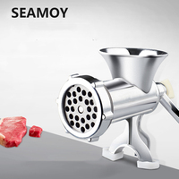 Seamoy Manual Meat Slicer Mincer Aluminum Alloy Meat Grinder Mincer Machine Sausage Stuffer Table Crank Kitchen vegetable Cutter