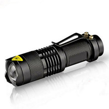 Linterna Led impermeable Q5 2000lm 3 modos Zoomable gran oferta autodefensa no tazer shock Mini Flash linterna Penlight(China)