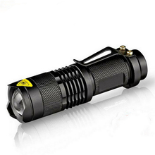 LED Flashlight Q5 2000LM 3 Modes Zoomable High-quality Waterproof Mini Black Portable Led Flash Light Torch Penlight цена 2017