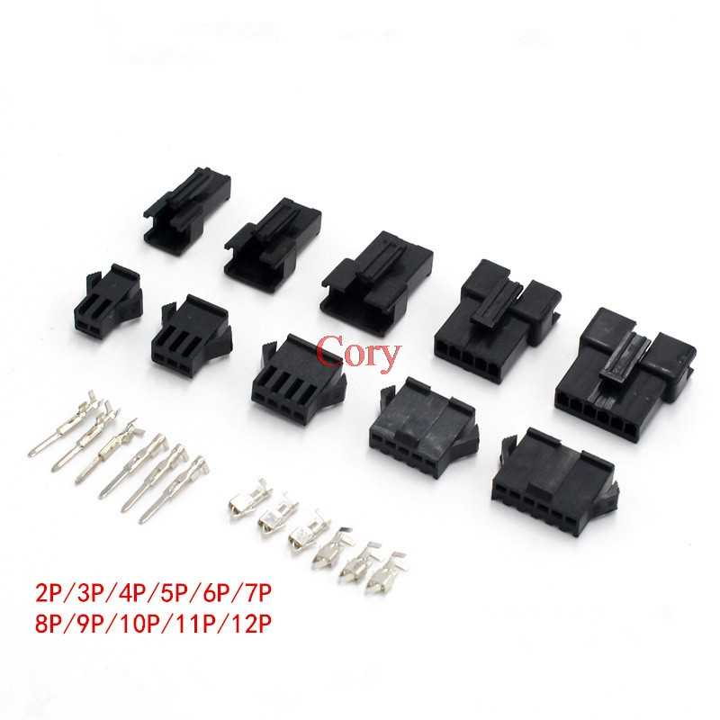2.54mm Connector 2//3//4//5//6//7//8//9//10//11//12 Pin Cable Plug Male Female