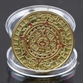 Coin Gold Silver Plated Mayan Aztec Prophecy Calendar Commemorative Coin Art Collection Gift