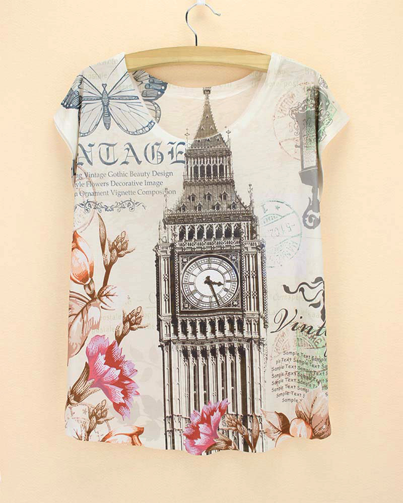 Design your own t shirt dress - New Come Western Fashion Design T Shirt Women New 2015 Summer Dress Girls Novelty Print