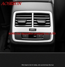 car styling After the exhaust outlet decoration Interior automobiles 3D sticker For Audi A4 b9 sedan allroad quattro 2016 2017