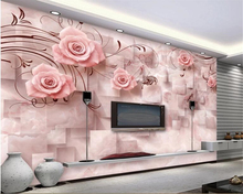 beibehang Custom wallpaper for walls 3 d Marble embossed rose 3d living room sofa bedroom background wall