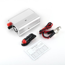 Automobiles 300W Car Auto Power Inverter Aluminum Alloy Vehicle Voltage Inverter DC12V To AC110V Power Inverter Adapter Silvery