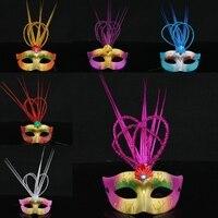 Хэллоуин маска окрашены дождь Маска цвет блестка корона принцессы корона маска