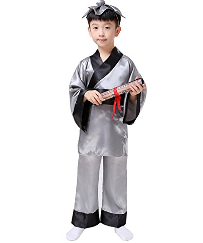 Hanfu Chinese clothes Cosplay Student Cosplay For Kids Top and Pants, hairdress Full Set Uniform Halloween Carnival Costume