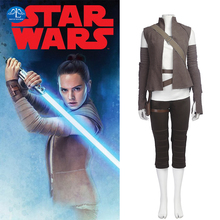 MANLUYUNXIAO Women Costume Star Wars 8 Cosplay Rey Adult Halloween Costumes For Custom Made Free Shipping
