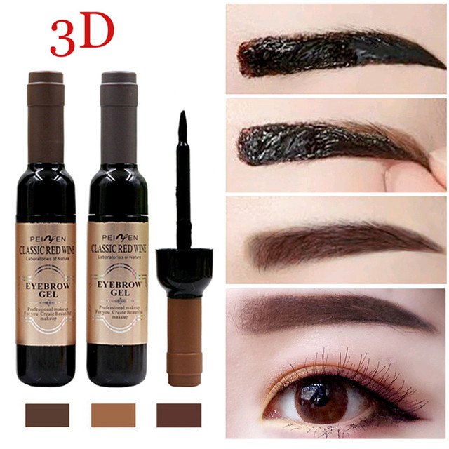 1Pcs Eyebrow Tattoo Gel Black Coffee Gray Peel Off Eye Brow Shadow Eyebrow Gel Cosmetics Makeup for Women High Pigmented Makeup 1