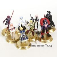 Fate Grand Order Duel First Release Altria Pendragon Gilgamesh Mash Kyrielight Cu Chulainn PVC Action Figures Toys 8pcs/set