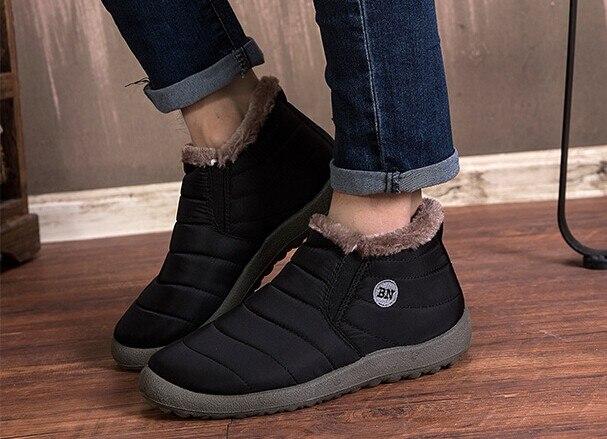 Moda masculina inverno sapatos de neve de