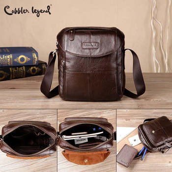 цена на Cobbler Legend Genuine Leather Men Bags Casual Men's Messenger Bag Shoulder Crossbody Bag Male Men Leather Designer Handbags