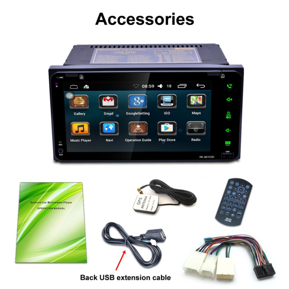 7 Inch 2 Din Dual Core 7 Touch Screen Bluetooth Player Car DVD Wifi Connect GPS Navigation FM/AM Radio Tuner For Android 6.0 joyous j 2611mx 7 touch screen double din car dvd player w gps ipod bluetooth fm am radio rds